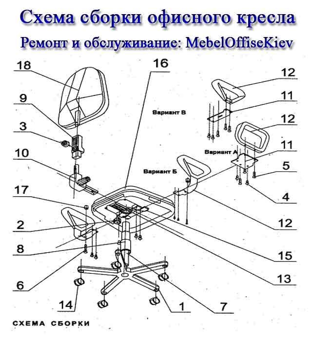 для стульев и кресел